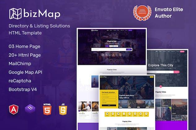 BizMap - Directory Listing Angular10 Template
