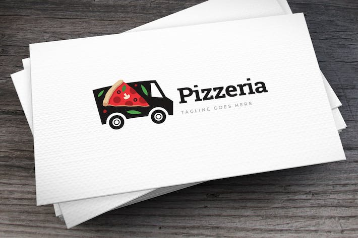 Thumbnail for Pizza Truck Logo Template