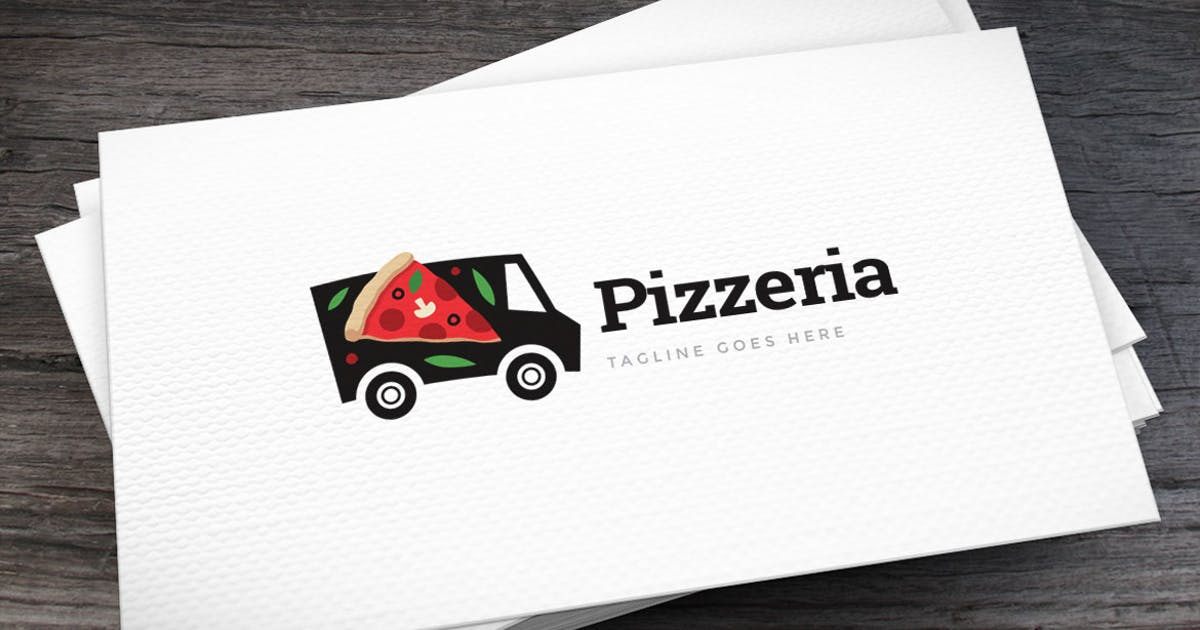 Download Pizza Truck Logo Template by empativo