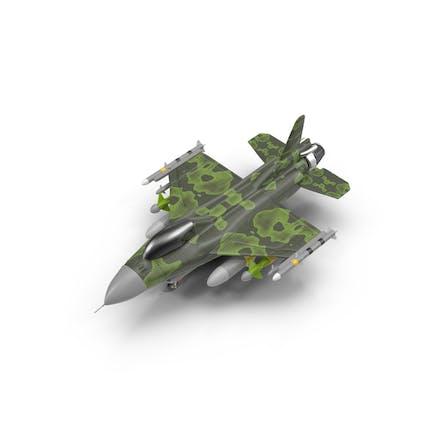 Cartoon Fighter Aircraft