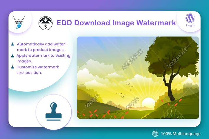 Thumbnail for Easy Digital Downloads - Download Image Watermark