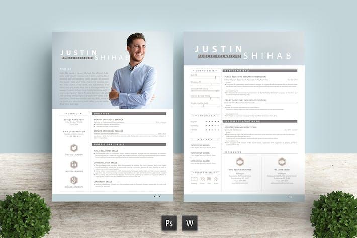 Thumbnail for Professional Resume Template Justin Shihab