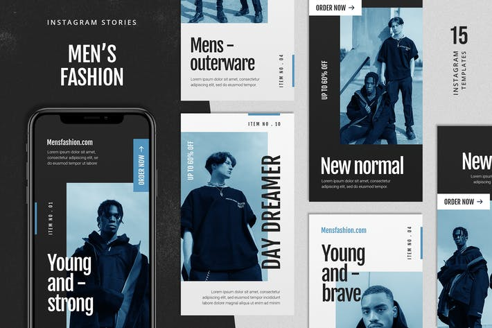 Thumbnail for Men's Fashion Instagram Stories Template
