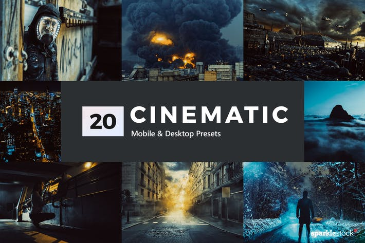 Thumbnail for 20 Cinematic Lightroom Presets & LUTs