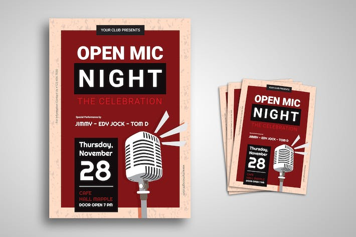Thumbnail for Stand Up Comedy Promo Flyer