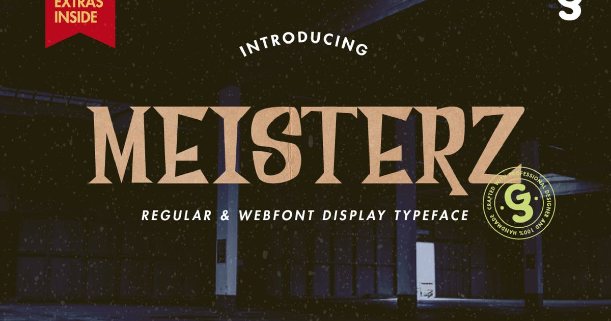 Download Meisterz Typeface by miaodrawing