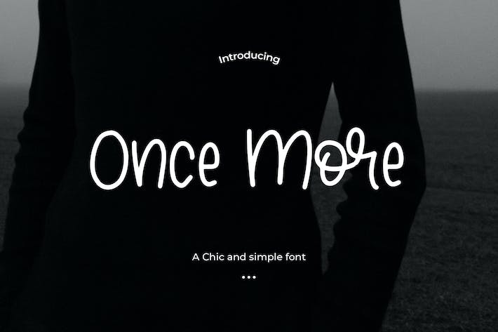 Thumbnail for Once More - A Chic and simple font