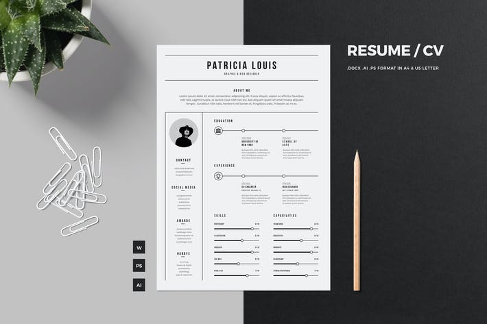 Cover Image For Minimalist Resume