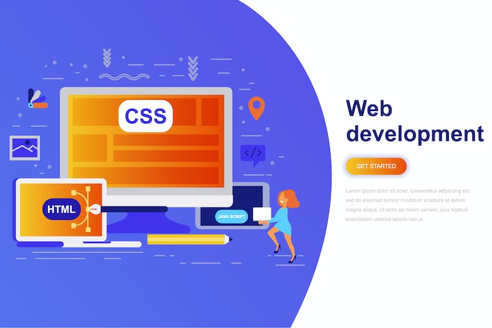 Thumbnail for Web Development Modern Flat Concept