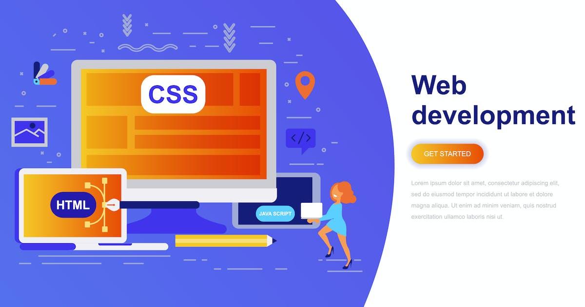 Download Web Development Modern Flat Concept by alexdndz