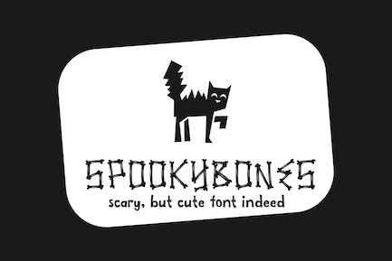 Spookybones - A Fun Sans Serif Halloween Font