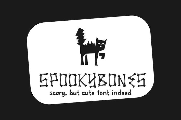 Thumbnail for Spookybones - A Fun Sans Con serifa Fuente de Halloween
