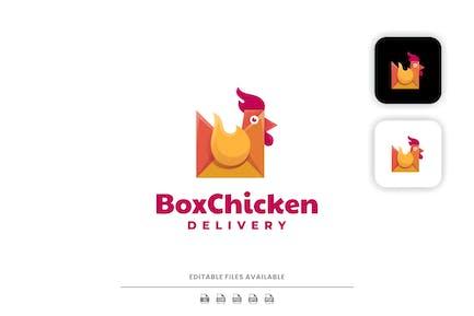 Коробка Куриный градиент Логотип