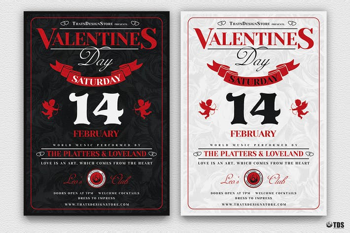 Thumbnail for Valentines Day Flyer Template V12