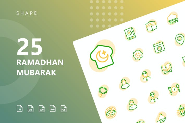 Thumbnail for Ramadhan Mubarak Shape Icons