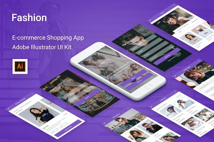 Thumbnail for Fashion - Ecommerce Shopping App Adobe Illustrator