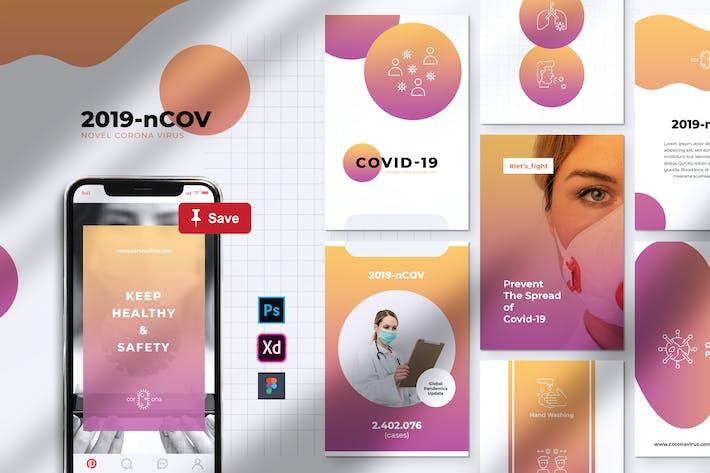 Thumbnail for Corona Virus Covid-19 Pinterest Template