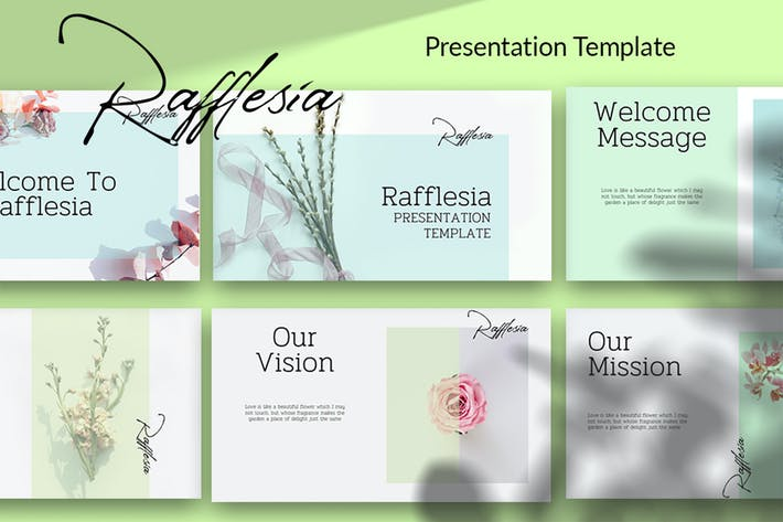 Thumbnail for Rafflesia - Présentation minimaliste Google Slide