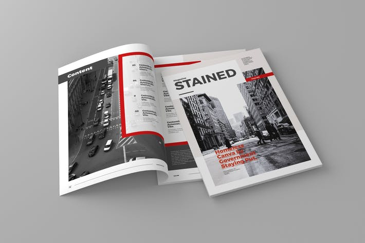 Thumbnail for Stained - Magazine Template