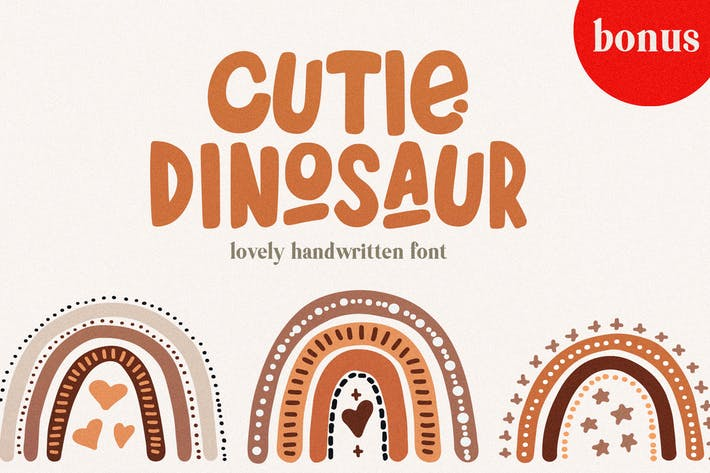Thumbnail for Cutie Dinosaur Font + Bonus