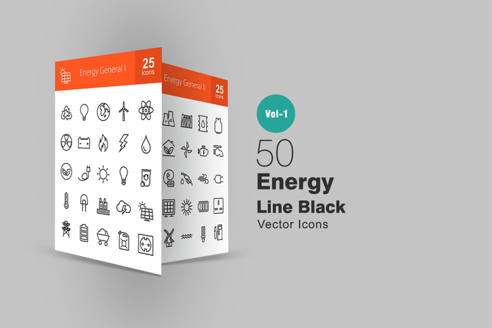 Thumbnail for 50 Energy Line Icons