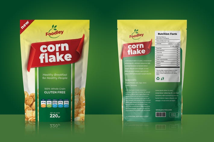 Thumbnail for Corn Flakes VerpackungsVorlage