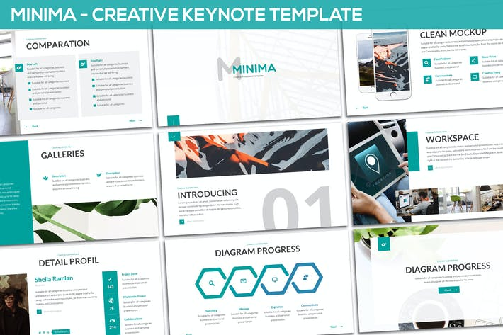 Cover Image For Minima - Minimal & Creative Keynote Template