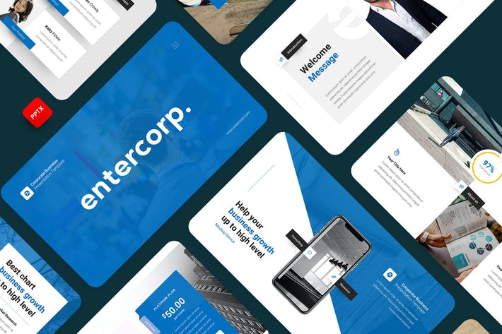 Thumbnail for Entercorp-Corporate Business PowerPoint Template