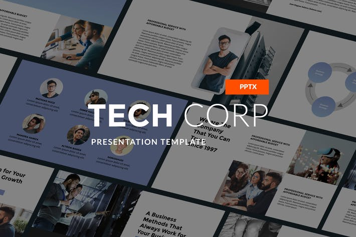 Cover Image For Tech Corp - Modern PPT Template