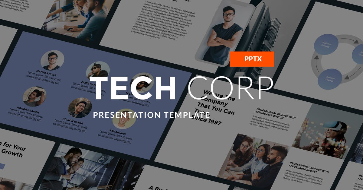 Download Tech Corp - Modern PPT Template by Slidehack
