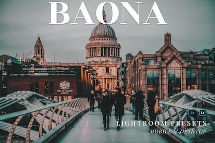 Baona Mobile and Desktop Lightroom Presets