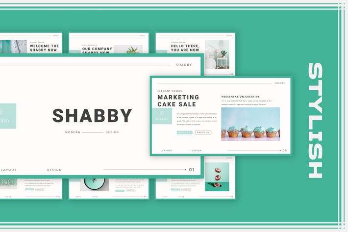 Thumbnail for Shabby Keynote Template