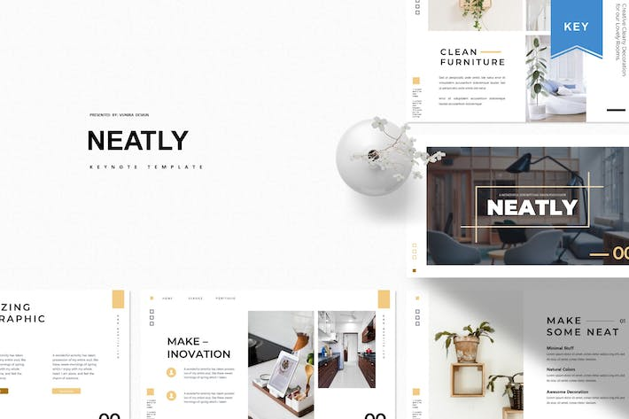 Thumbnail for Neatly | Keynote Template