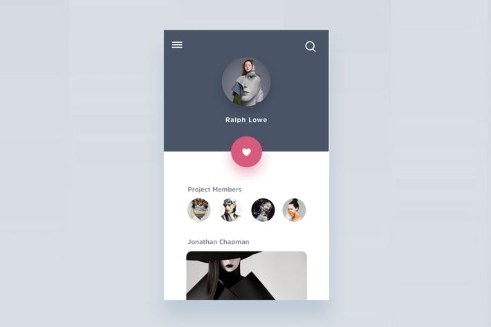 Thumbnail for Fashion Artist Social App Screen