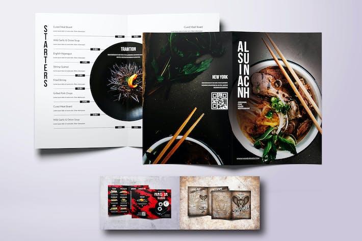 Thumbnail for Asian Different Bifold Food Menus Bundle