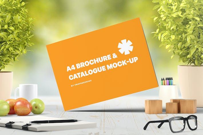 Thumbnail for A4 Landscape Catalogue / Brochure Mock-Up