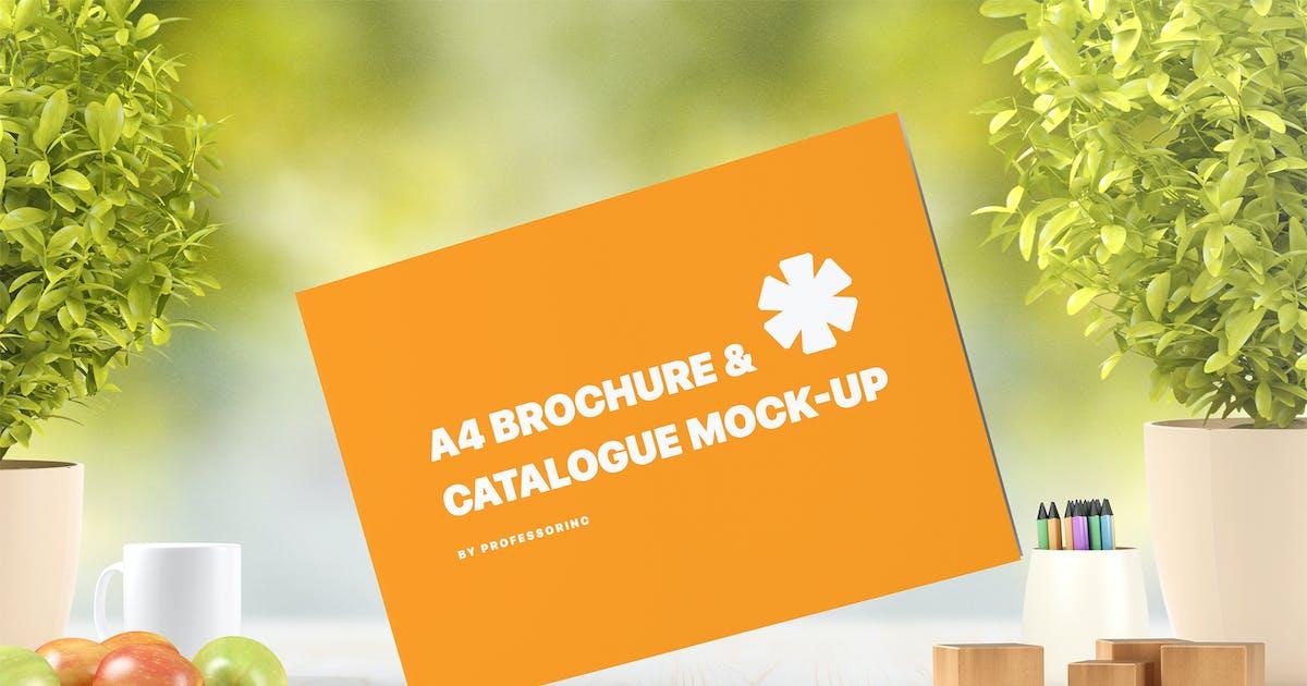A4 Landscape Catalogue / Brochure Mock-Up by professorinc