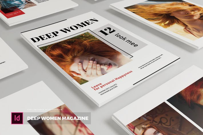 Thumbnail for Deep Women | Magazine Template