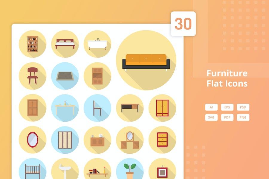 Furniture Set - Flat Icons