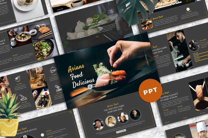 Thumbnail for Asians Food - Food & Beverage PowerPoint Template