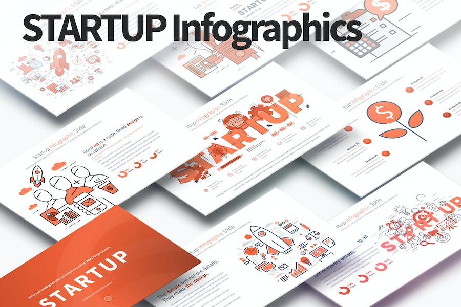 Startup - PowerPoint Infographics Slides
