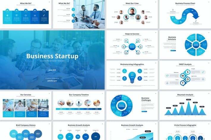 Thumbnail for Business Startup PowerPoint Template