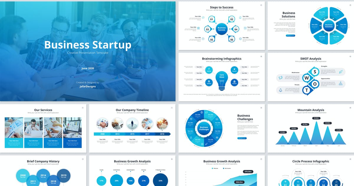 Download Business Startup PowerPoint Template by JafarDesigns
