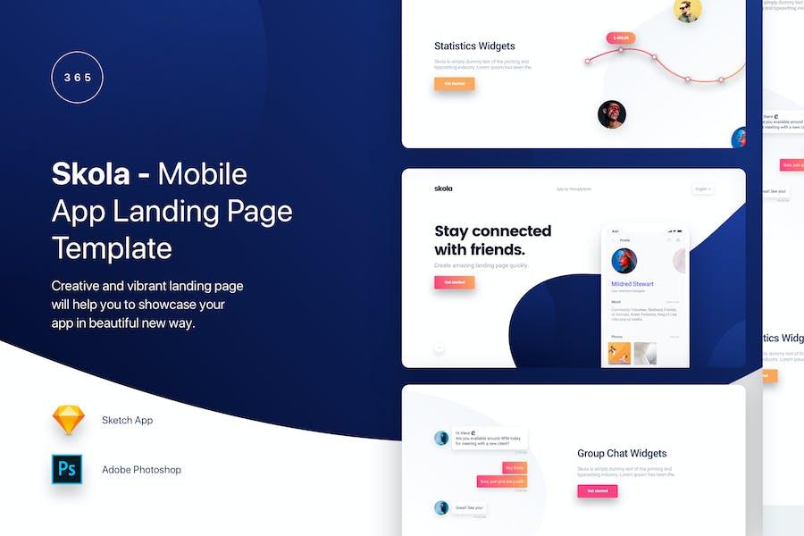 Skola - Mobile App Landing Page Template