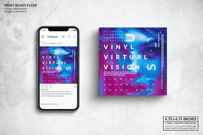 Thumbnail for Vinyl Virtual Vision Square Flyer & Social Media