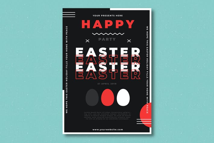 Thumbnail for Easter Party Flyer Template