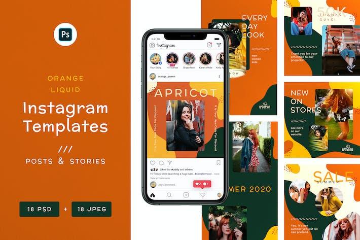 Thumbnail for Orange Liquid - Instagram Banners