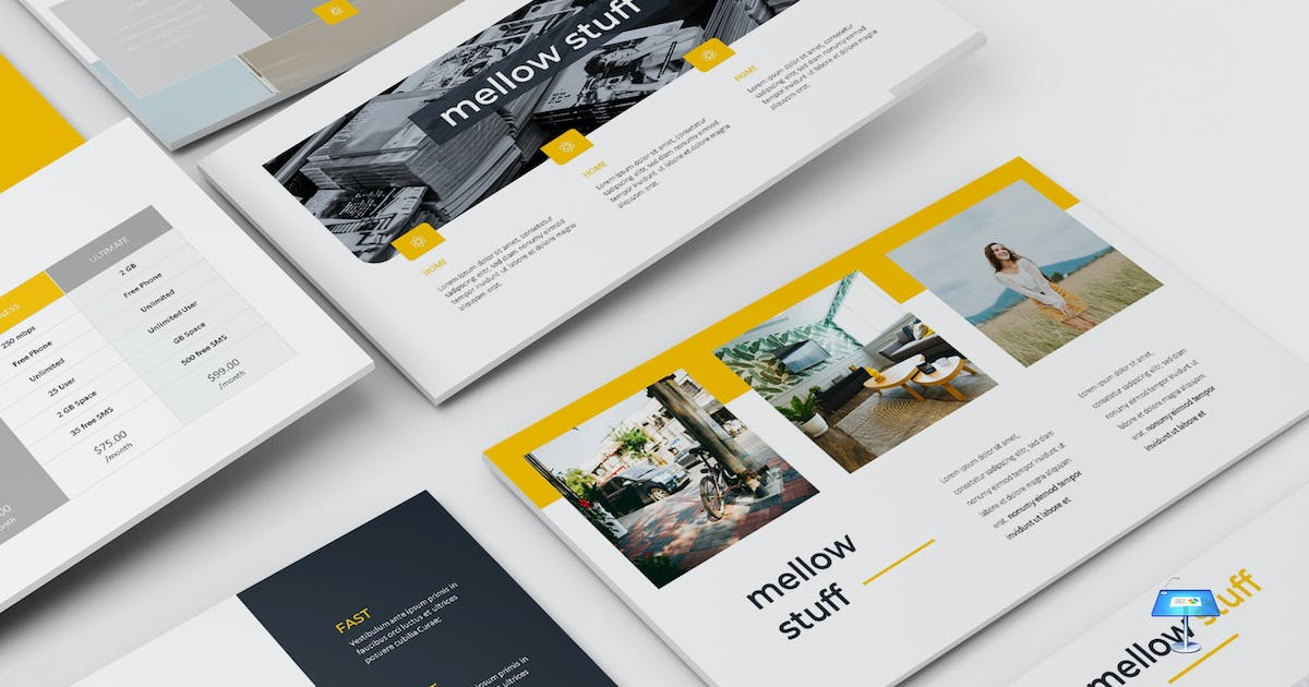 Download Mellow - Keynote Template by aqrstudio