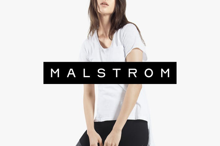 Cover Image For MALSTROM - Minimal & Timeless Display Typeface