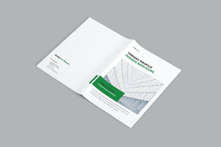 Cover Image For Corpora - A4 Company Brochure Template